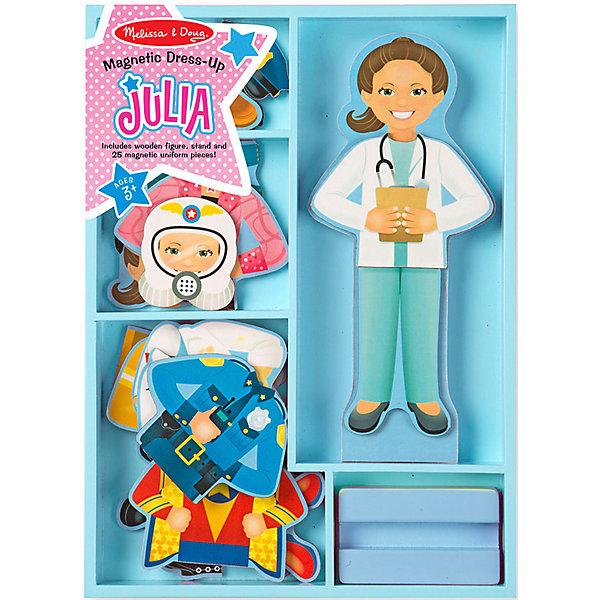 Купить Магнитный игровой набор Melissa & Doug Одень Джулию , 24 элемента, США, Унисекс