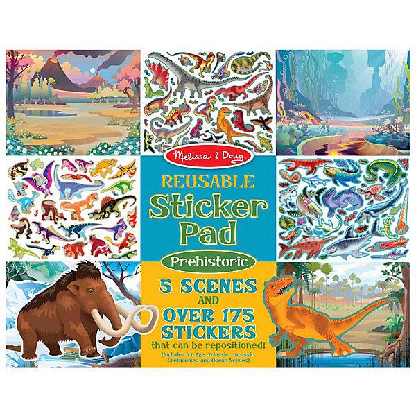"""Набор стикеров Melissa & Doug """"Доисторические Животные"""", 5 сцен, 175 наклеек, Разноцветный"""