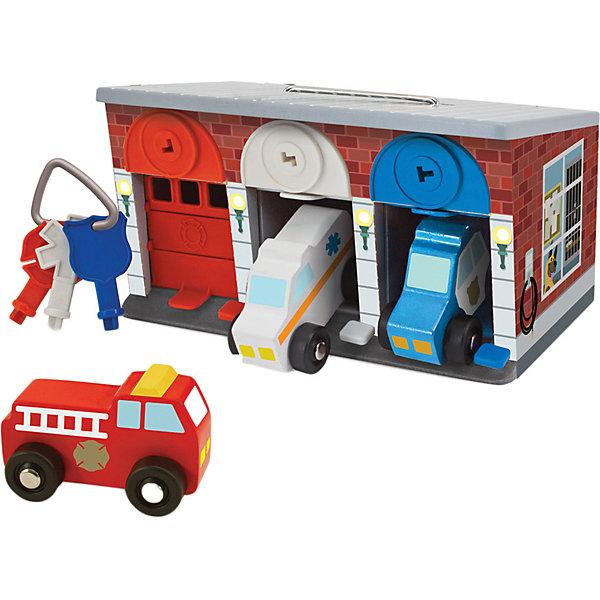 Melissa & Doug Гараж со спасательными машинами Melissa & Doug