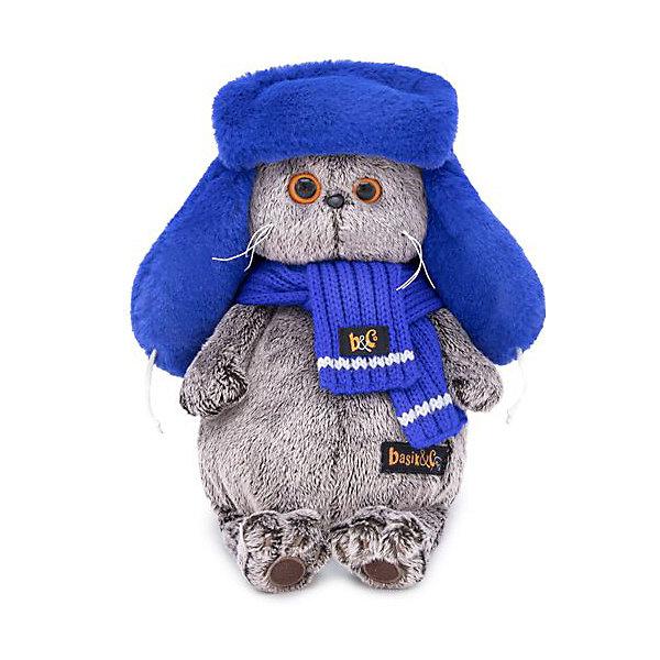 Budi Basa Мягкая игрушка Budi Basa Кот Басик в меховой шапке, 19 см цены онлайн