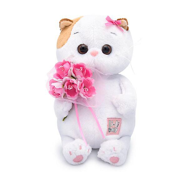 Budi Basa Мягкая игрушка Кошечка Ли-Ли Baby с букетом, 20 см
