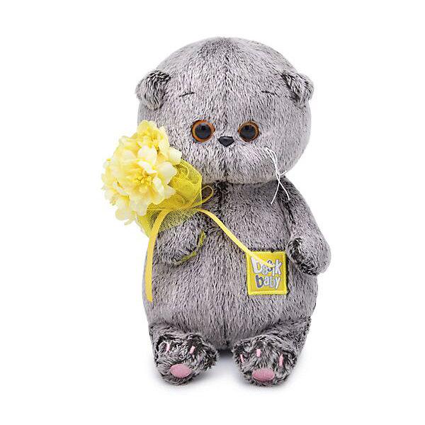 Budi Basa Мягкая игрушка Кот Басик Baby с букетом, 20 см