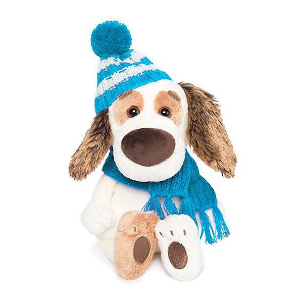 Мягкая игрушка Budi Basa Собака Бартоломей Baby в шапочке и шарфе, 19 см фото