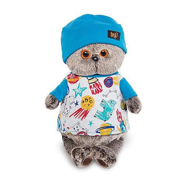 Budi Basa Мягкая игрушка Budi Basa Кот Басик в футболке космос и в шапочке, 19 см цены онлайн