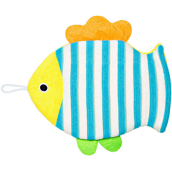 Roxy-Kids Махровая мочалка-рукавичка Roxy-Kids Рыбка. roxy kids развивающий коврик лисичка и ее друзья с дугами roxy kids