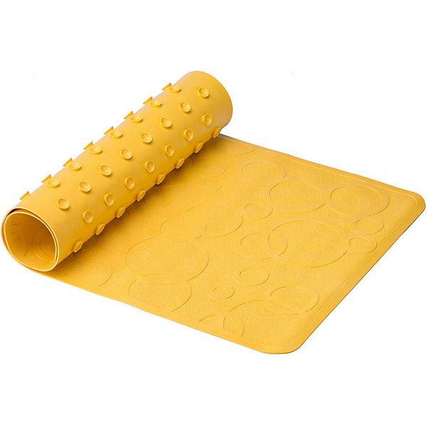Roxy-Kids Антискользящий резиновый коврик для ванны Roxy-Kids, жёлтый