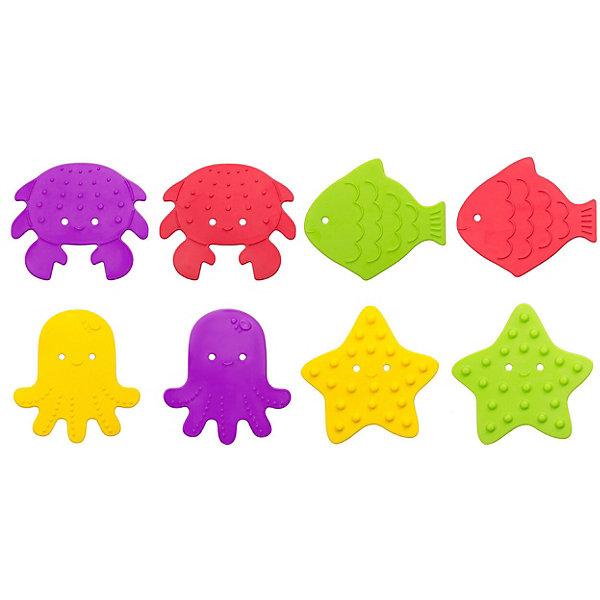 Купить Антискользящие мини-коврики Roxy-Kids для ванны, 8 шт., Россия, разноцветный, Унисекс