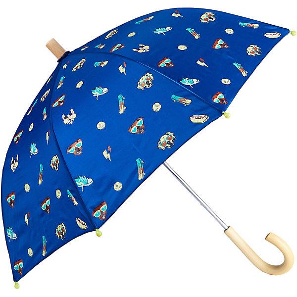 Зонт HatleyЗонты<br>Характеристики товара:<br><br>• материал: 100% полиэстер<br>• страна бренда: Канада<br><br>Зонт-трость защищает от дождя и дополнен удобной загнутой ручкой. Конструкция очень прочная, благодаря чему изделие нелегко сломать. Концы спиц прикрыты безопасными наконечниками. Украшен рисунком.