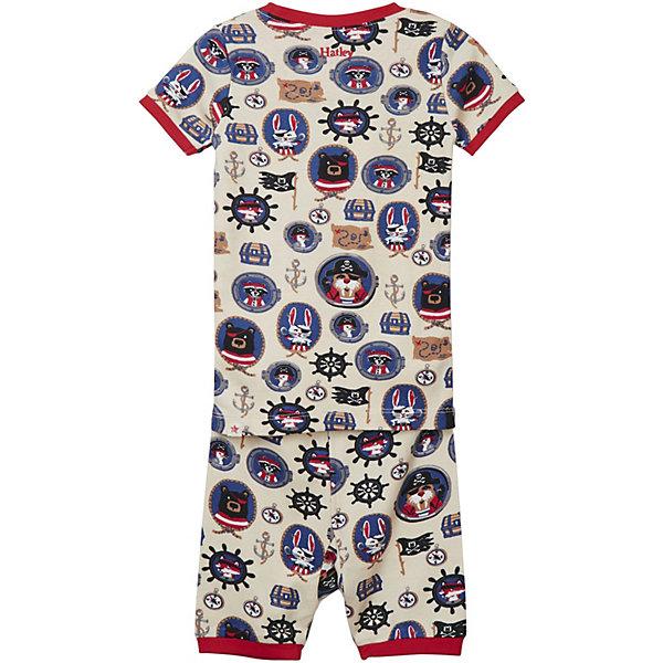 Пижама Hatley для мальчикаПижамы и сорочки<br>Характеристики товара:<br><br>• состав ткани: 100% хлопок<br>• сезон: круглый год<br>• в комплекте: футболка, брюки<br>• манжеты на рукавах и по низу брючин<br>• страна бренда: Канада<br><br>Пижама прямого кроя. Натуральная и дышащая ткань обеспечивает комфорт и удобство во время сна. Манжеты предотвращают перекручивание рукавов и штанин. Украшена рисунком.