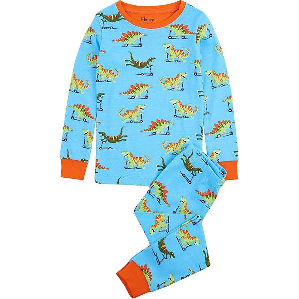 Пижама HatleyПижамы и сорочки<br>Характеристики товара:<br><br>• состав ткани: 100% хлопок<br>• сезон: круглый год<br>• в комплекте: футболка, брюки<br>• манжеты на рукавах и по низу брючин<br>• страна бренда: Канада<br><br>Пижама прямого кроя обеспечит удобство и комфорт во время сна. Натуральный материал обладает дышащими свойствами. Манжеты контрастного цвета не позволят рукавам и штанинам перекручиваться. Украшена рисунком.