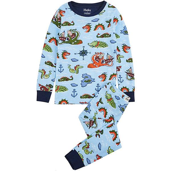 Пижама Hatley для мальчикаПижамы и сорочки<br>Характеристики товара:<br><br>• состав ткани: 100% хлопок<br>• сезон: круглый год<br>• в комплекте: футболка, брюки<br>• манжеты на рукавах и по низу брючин<br>• страна бренда: Канада<br><br>Пижама прямого кроя обеспечит удобство и комфорт во время сна. Натуральный материал обладает дышащими свойствами. Манжеты контрастного цвета не позволят рукавам и штанинам перекручиваться. Украшена рисунком.