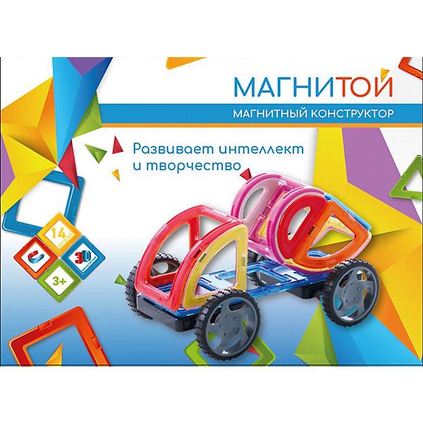 Купить Магнитный конструктор «Магнитой» Машинка, 14 деталей, Китай, разноцветный, Унисекс
