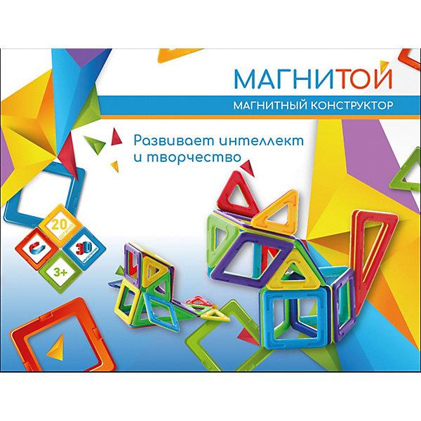 Купить Магнитный конструктор «Магнитой», 20 деталей (непрозрачный материал), Китай, разноцветный, Унисекс