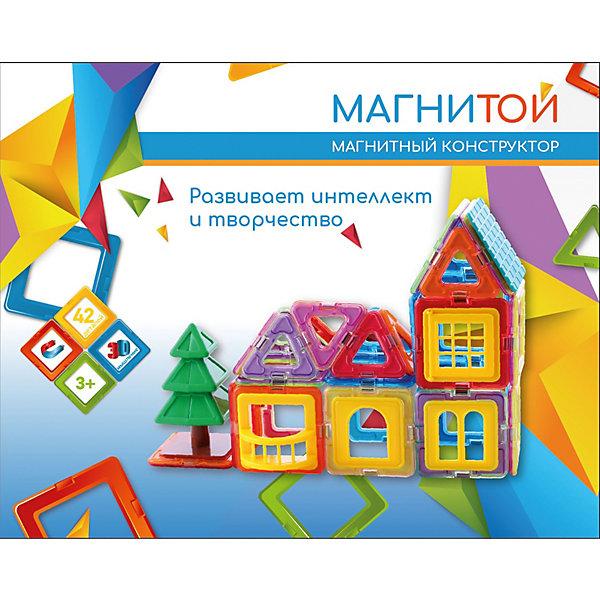 Купить Магнитный конструктор «Магнитой» Дом с ёлочкой, 42 детали, Китай, разноцветный, Унисекс