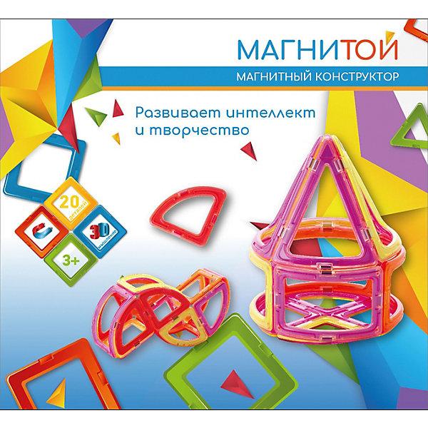 Купить Магнитный конструктор «Магнитой» Конус, 20 деталей, Китай, разноцветный, Унисекс