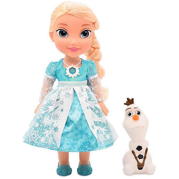 Disney Интерактивная кукла Disney Холодное Cердце: Эльза и Олаф, 35 см интерактивная игрушка олаф холодное сердце disney