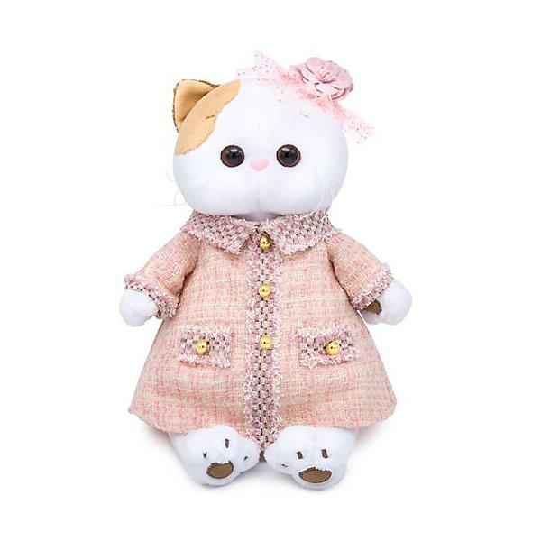 Купить Мягкая игрушка Budi Basa Кошечка Ли-Ли в розовом костюме в клетку, 24 см, Россия, белый, Унисекс