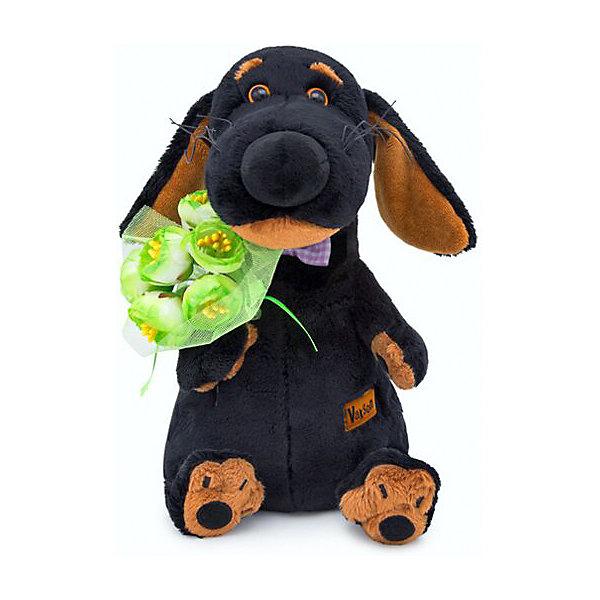 Budi Basa Мягкая игрушка Собака Ваксон с букетом, 25 см