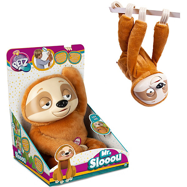 цена на IMC Toys Интерактивная игрушка IMC Toys Club Petz Funny Ленивец Mr Slooou