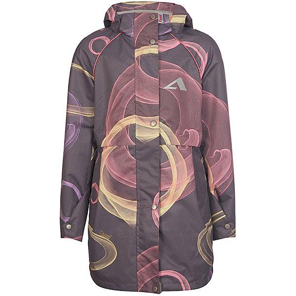 Плащ  OLDOS ACTIVE для девочкиВерхняя одежда<br>Характеристики товара:<br><br>• состав ткани: полиэстер, Teflon<br>• подкладка: 100% полиэстер<br>• утеплитель: без дополнительного утепления<br>• водонепроницаемость: 3000 мм<br>• воздухопроницаемость: 3000 мм<br>• сезон: демисезон<br>• температурный режим: от +10 до +20С<br>• застёжка: молния с защитой подбородка<br>• ветрозащитная планка на кнопках<br>• съёмный регулируемый капюшон<br>• манжеты рукавов на кнопке<br>• информационная нашивка-потеряшка<br>• светоотражающие элементы<br>• страна бренда: Россия<br><br>Плащ приталенного кроя обеспечивает водонепроницаемость благодаря мембранной технологии. Позволяет телу дышать и не сковывает движений. Специальное покрытие повышает износостойкость материала и облегчает уход за изделием. Функциональные элементы позволяют подогнать комфортную посадку по фигуре. Высокий воротник-стойка защищает шею от ветра и прохлады. Внутри мягкая флисовая подкладка, а в рукавах гладкая для более лёгкого надевания. Дополнен карманами на молнии.