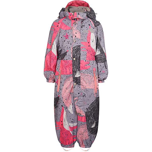 Комбинезон OLDOS ACTIVEВерхняя одежда<br>Характеристики товара:<br><br>• состав ткани: полиэстер, Teflon<br>• подкладка: 100% полиэстер<br>• утеплитель: Hollofan 100 г/м2<br>• водонепроницаемость: 3000 мм<br>• воздухопроницаемость: 3000 мм<br>• сезон: демисезон<br>• температурный режим: от -5 до +10С<br>• застёжка: молния с защитой подбородка<br>• ветрозащитная планка на кнопках<br>• съёмный и регулируемый капюшон<br>• эластичная сборка на талии по спинке<br>• внутренняя утяжка со стопперами на талии<br>• эластичная резинка на манжетах рукавов и брючин<br>• силиконовые штрипки<br>• информационная нашивка-потеряшка<br>• страна бренда: Россия<br><br>Приталенный комбинезон защищает от влаги и ветра, сохраняя тепло, сухость и комфорт во время прогулки. Продуманный крой и функциональные элементы обеспечивают свободу движений и удобную посадку по фигуре. Утеплитель из гипоаллергенных материалов. Ткань износостойкая и легка в уходе. Капюшон дополнительно застёгивается на липучку спереди. Высокий воротник-стойка прикрывает шею. Брючины надёжно фиксируются штрипками и не будут задираться. Внутри мягкая флисовая подкладка, а в рукавах и штанинах гладкая. Петелька для подвешивания. По бокам два кармана с водонепроницаемой молнией. Декорирован принтом.