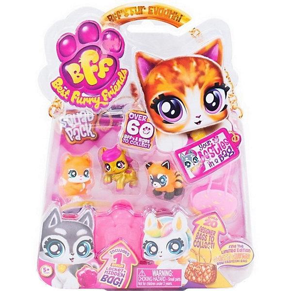 Best Furry Friends Коллекционные фигурки с розовой в желтую крапинку сумкой-переноской