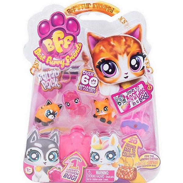 Best Furry Friends Коллекционные фигурки с фиолетово-розовой сумкой-переноской Кекс