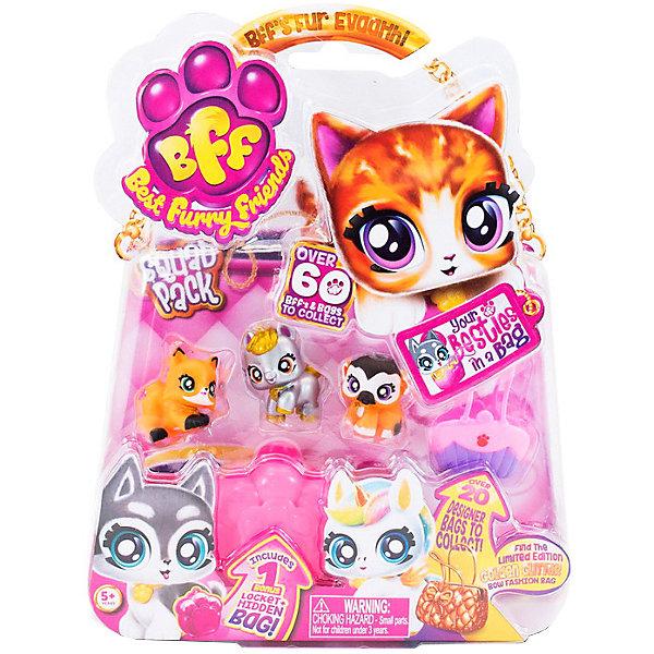 Best Furry Friends Коллекционные фигурки с розово-фиолетовой сумкой-переноской Кекс