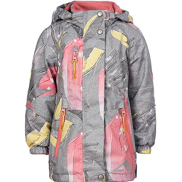 Куртка  OLDOS ACTIVE для девочкиВерхняя одежда<br>Характеристики товара:<br><br>• состав ткани: полиэстер, Teflon<br>• подкладка: 100% полиэстер<br>• утеплитель: без дополнительного утепления<br>• водонепроницаемость: 3000 мм<br>• воздухопроницаемость: 3000 мм<br>• сезон: демисезон<br>• температурный режим: от +10 до +20С<br>• застёжка: молния с защитой подбородка<br>• ветрозащитная планка на кнопках<br>• съёмный регулируемый капюшон<br>• эластичная резинка на манжетах рукавов<br>• регулируемый подол<br>• информационная нашивка-потеряшка<br>• светоотражающие элементы<br>• страна бренда: Россия<br><br>Мембранная ветровка с мягкой флисовой подкладкой. Рукава внутри гладкие для более лёгкого надевания. Куртка приталенного анатомического кроя обеспечивает свободу движений. Позволяет телу дышать, при это не пропускает влагу, ветер и прохладу внутрь. Специальное покрытие увеличивает износостойкость материала и облегчает уход. Дополнена карманами на молнии и украшена принтом.