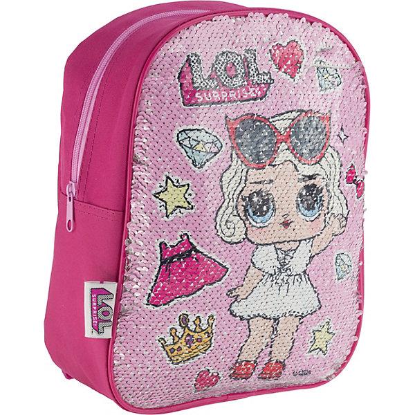 Купить Рюкзак детский AKADEMIA GROUP Куклы L.O.L , с двусторонними пайетками, MGA, Китай, розовый, Женский