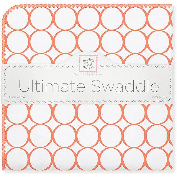 Купить Фланелевая пеленка SwaddleDesigns Orange Mod, 110х110 см, США, оранжевый, Унисекс