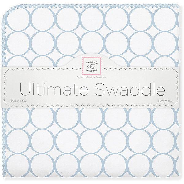 Купить Фланелевая пеленка SwaddleDesigns Blue Mod, 110х110 см, США, голубой, Мужской
