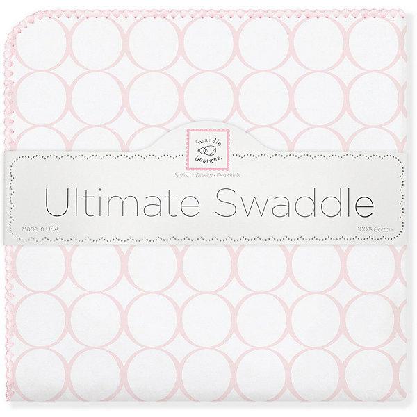 Купить Фланелевая пеленка SwaddleDesigns Pink Mod, 110х110 см, США, розовый, Женский