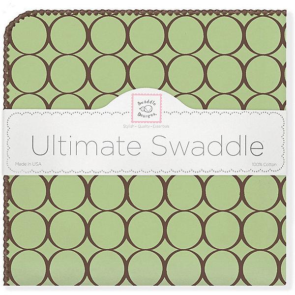 SwaddleDesigns Фланелевая пеленка SwaddleDesigns Lime, 110х110 см пеленка фланель радуга 75 120