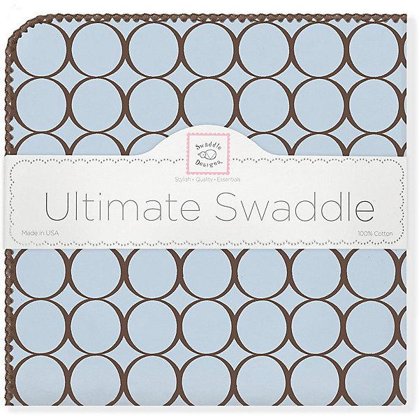 Купить Фланелевая пеленка SwaddleDesigns Blue, 110х110 см, США, голубой, Мужской