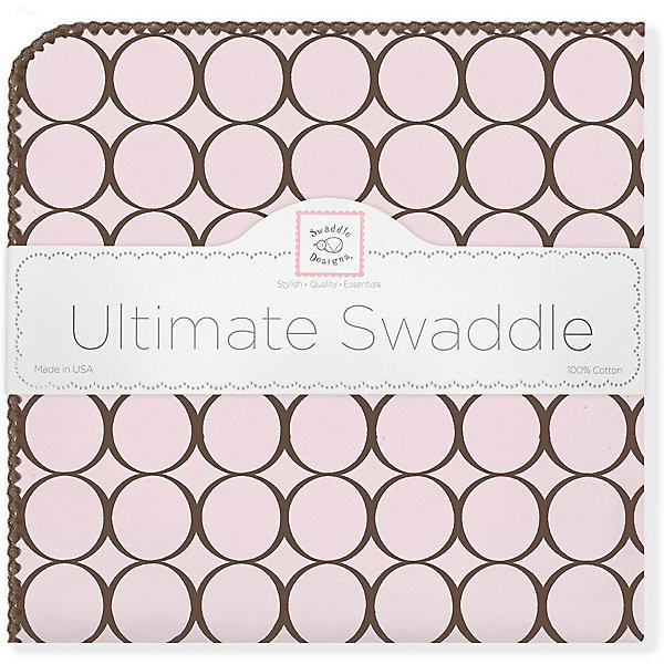 SwaddleDesigns Фланелевая пеленка SwaddleDesigns Pink, 110х110 см детская простынь swaddledesigns fitted crib sheet pink chickies sd 447p