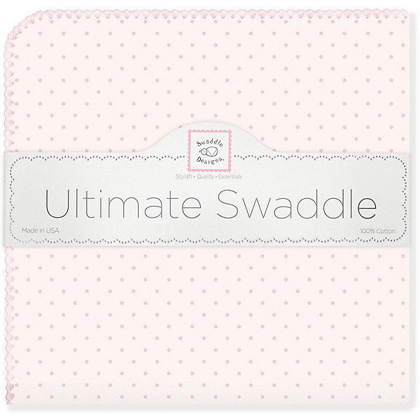Купить Фланелевая пеленка SwaddleDesigns Pink Dot, 110х110 см, США, розовый, Женский