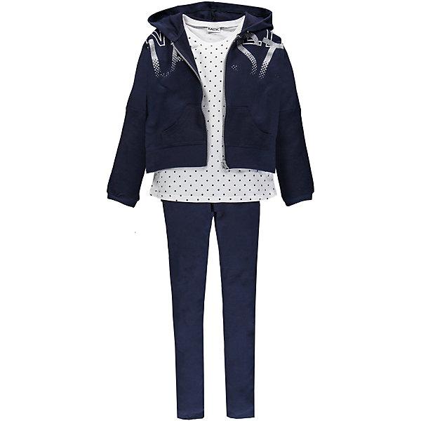 Купить Спортивный костюм MEK для девочки, Китай, темно-синий, 110, 104, 170, 128, 152, 122, 116, 140, 164, Женский