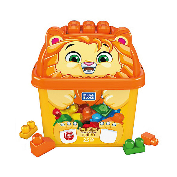 Конструктор Mega Bloks Животные Тигр, 25 деталейКонструкторы для малышей<br>Характеристики товара:<br> <br>• материал: пластик<br>• количество деталей: 25<br>• серия: Животные<br>• упаковка: пластиковый контейнер<br>• страна бренда: США<br> <br>Конструктор позволяет собрать и построить всё, что захочет ребёнок. Различные замки, башни любой высоты и даже целые крепости. Строить можно даже на крышке контейнера. А по окончании игры все детали легко собираются и хранятся в упаковке в виде милого животного. Совместим с другими наборами Mega Bloks. Развивает мелкую моторику, которая формирует речевые навыки, образное восприятие, внимание, пространственное мышление, а также фантазию.