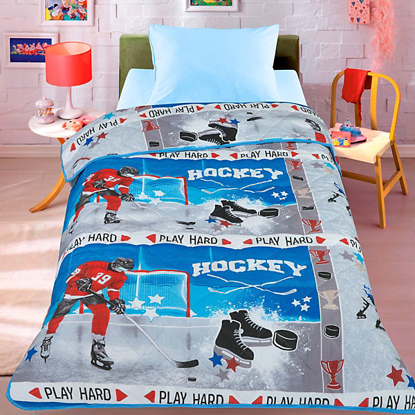 Покрывало-одеяло Letto, Хоккей, 140х200 см