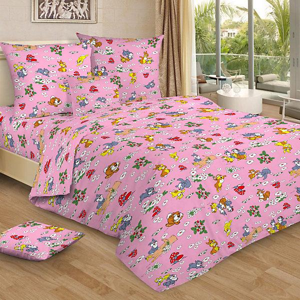 Letto Детское постельное белье 1,5 сп Letto, Веселые зайчата, розовый