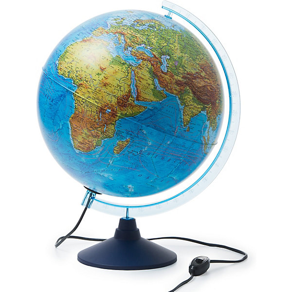 Globen Интерактивный глобус Земли Globen физико-политический с подсветкой, 320мм globen глобус земли globen физико политический с подсветкой 150мм
