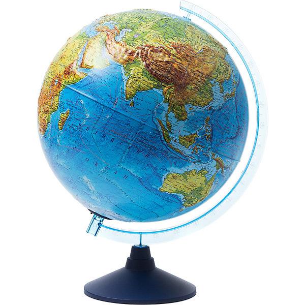 Интерактивный глобус Земли Globen физико-политический рельефный с подсветкой, 320ммГлобусы<br>Характеристики товара:<br><br>• материал: пластик<br>• диаметр глобуса: 32 см<br>• особенности: с подсветкой, рельефная поверхность, работа от батареек<br><br>Глобус подойдет в качестве наглядного пособия для изучения географии. На нем отображаются моря, океаны, рельеф поверхности Земли. При включении подсветки физическая карта становится политической, на которой видны страны, столицы, крупные города, границы государств. Для глобуса предусмотрено специальное мобильное приложение. При наведении смартфона или планшета с приложением на глобус, ребенок узнает много интересных фактов об истории Земли, растительном и животном мирах, достопримечательностях и загадочных уголках нашей планеты.