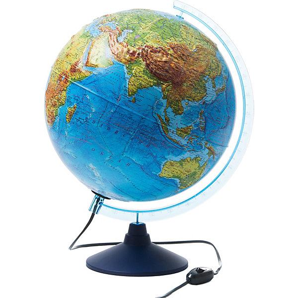 Интерактивный глобус Земли Globen физико-политический рельефный с подсветкой, 320мм