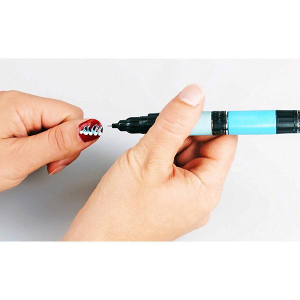 Лак-ручка для ногтей Creative Nails, 2 шт.: бежевый, темно-фиолетовый, Разноцветный