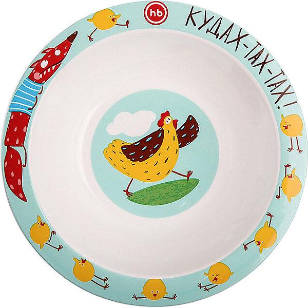Купить Тарелка глубокая для кормления Happy Baby, chicken, Китай, разноцветный, Унисекс