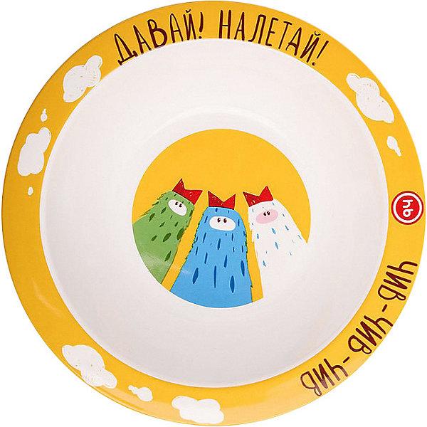 Купить Тарелка глубокая для кормления Happy Baby, birds, Китай, разноцветный, Унисекс