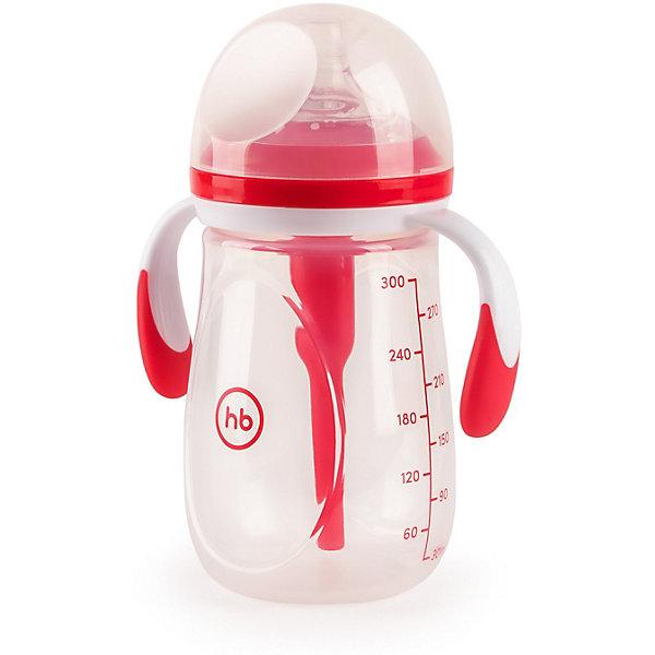 Бутылочка антиколиковая Happy Baby 300 мл, rubyБутылочки и аксессуары<br>Характеристики:<br><br>• материал: силикон, полипропилен<br>• не содержит Бисфенол<br>• в комплекте: бутылочка, соска, антиколиковая трубочка, съемные ручки, колпачок<br>• объем: 300 мл<br>• шкала с делениями в 30 мл<br>• страна бренда: Великобритания<br><br>Инновационная бутылочка с антиколиковой трубкой предотвращает попадание воздуха, которое приводит к повышенному газообразованию и коликам. Анатомически правильная форма мягкой соски, с воздухоотводящими клапанами, обеспечивает простоту захвата и имитирует грудное кормление. Благодаря съемным ручкам с анти скользящим покрытием, бутылочку удобно держать в руке, а герметичный колпачок предотвратит протекание смеси.