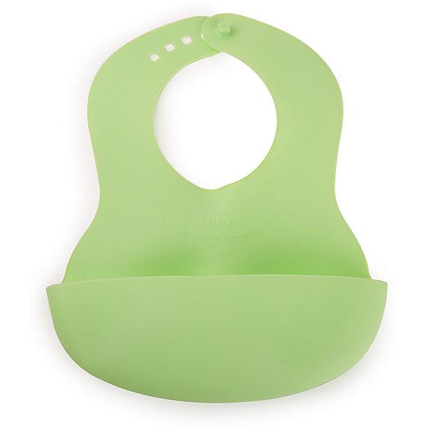 Купить Нагрудник пластиковый Happy Baby, grass, Китай, зеленый, Унисекс