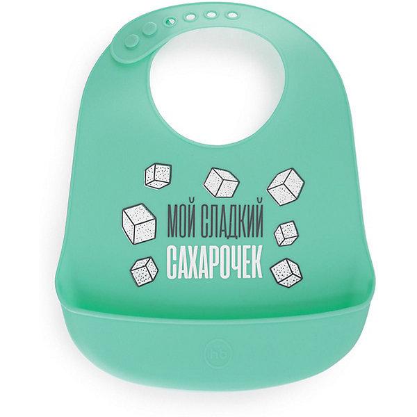 Happy Baby Нагрудник силиконовый Baby, mint